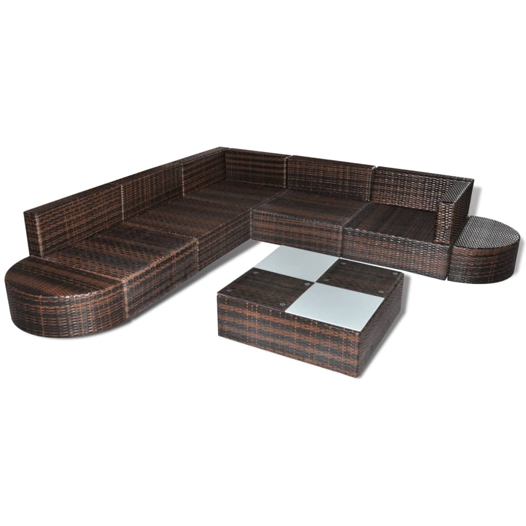 der poly rattan sitzgruppe m bel gartenm bel sitzgarnitur brown online shop. Black Bedroom Furniture Sets. Home Design Ideas