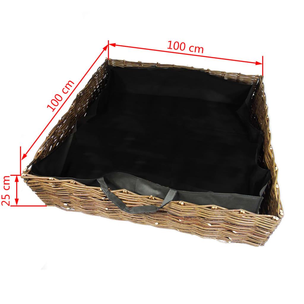 nature pflanzk bel weide 100x100x25 cm 6020291 g nstig kaufen. Black Bedroom Furniture Sets. Home Design Ideas