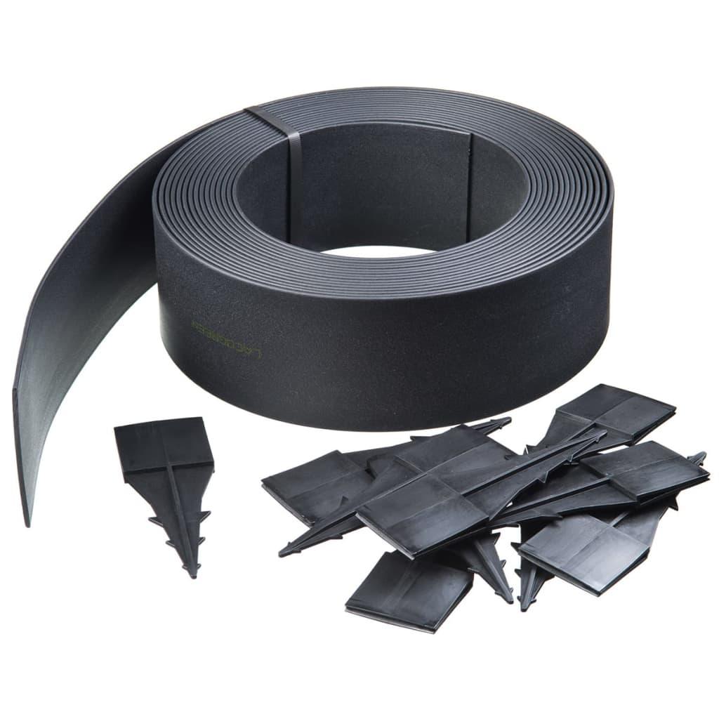 Nature 500x12 cm fekete gyepszegély 6040605