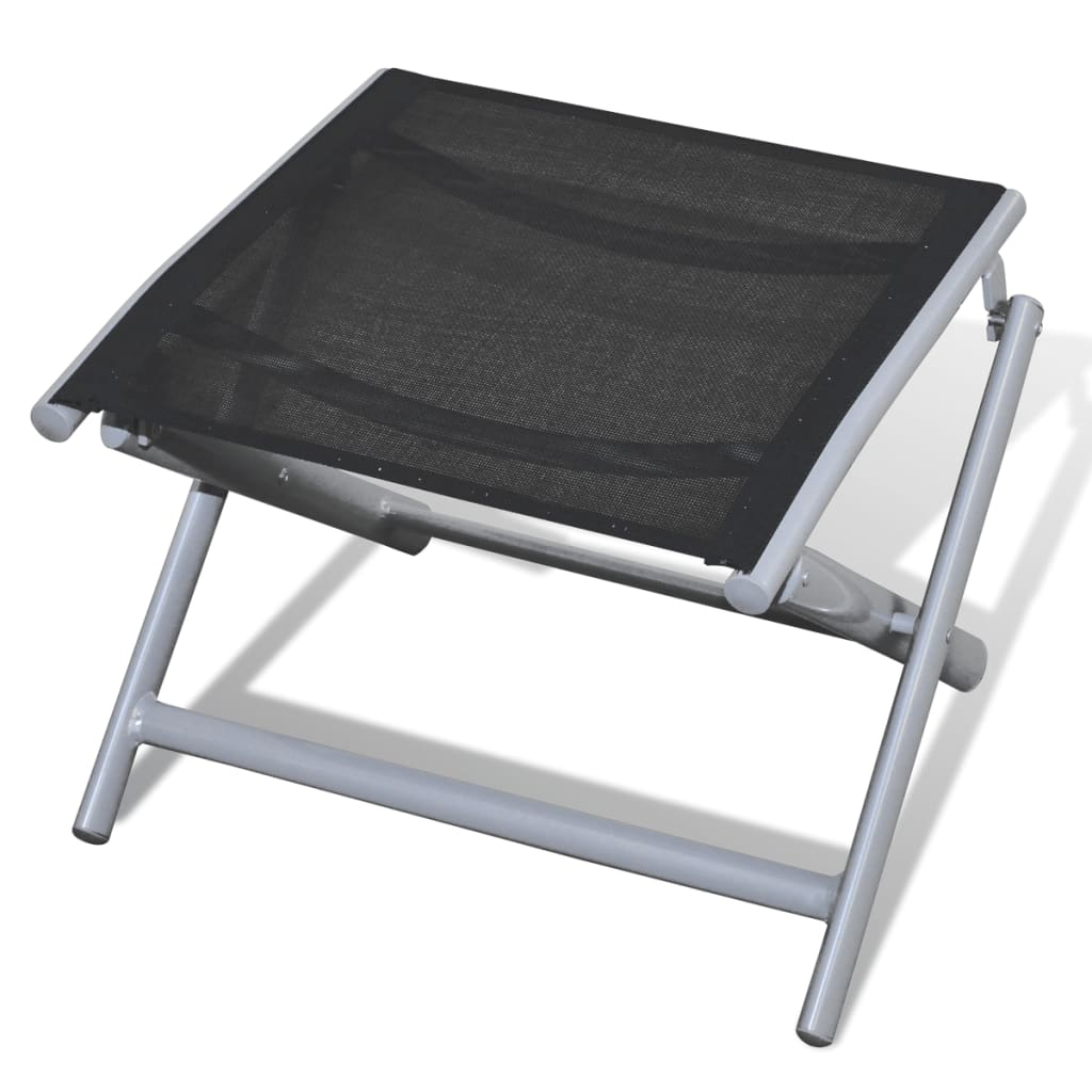 Folding Foot Rest Stool Saddle Seat Aluminium Frame
