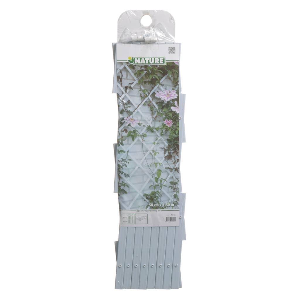 acheter nature palissade de jardin 50 x 150 cm pvc blanc pas cher. Black Bedroom Furniture Sets. Home Design Ideas