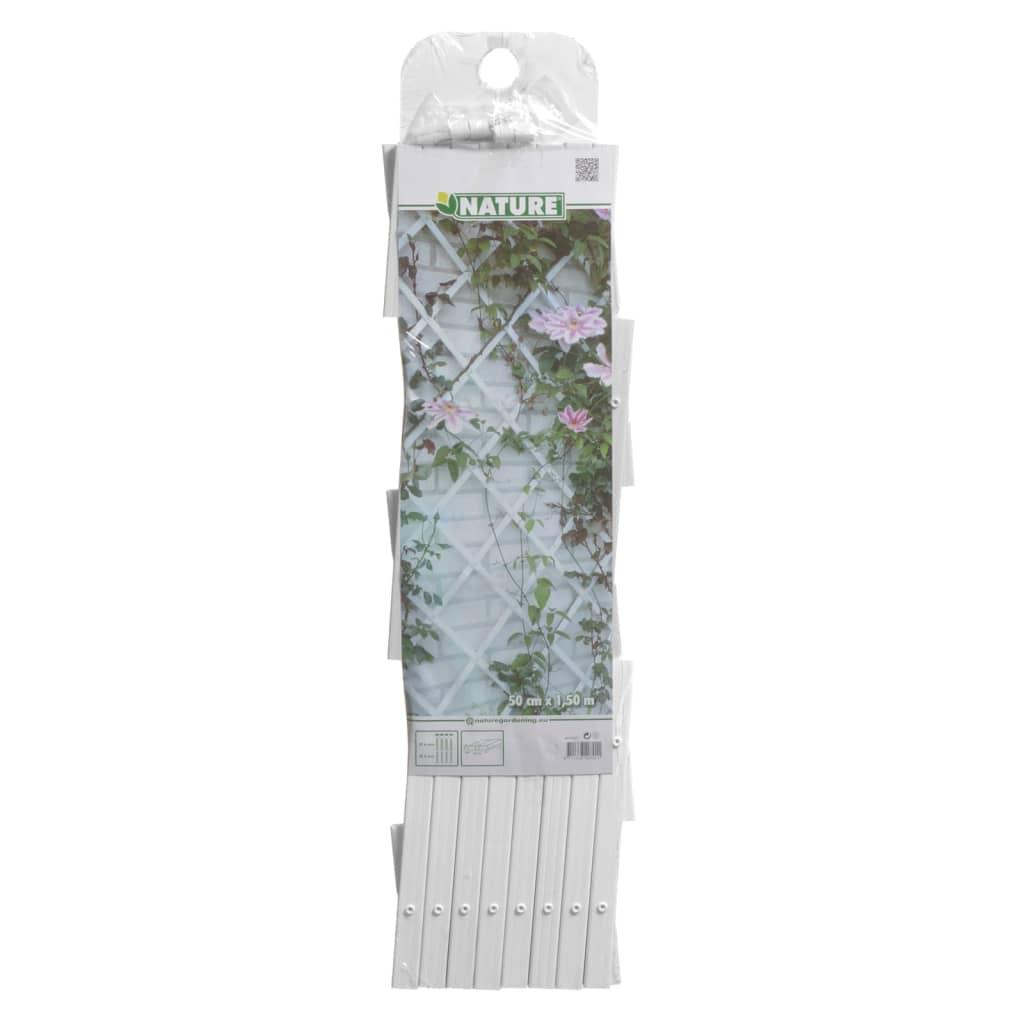nature garten rankgitter 100x200 cm pvc wei 6040703. Black Bedroom Furniture Sets. Home Design Ideas