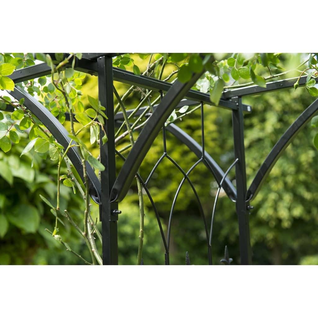 Nature arco para jard n 114x66x232 cm acero negro 6040801 for Arco decorativo jardin