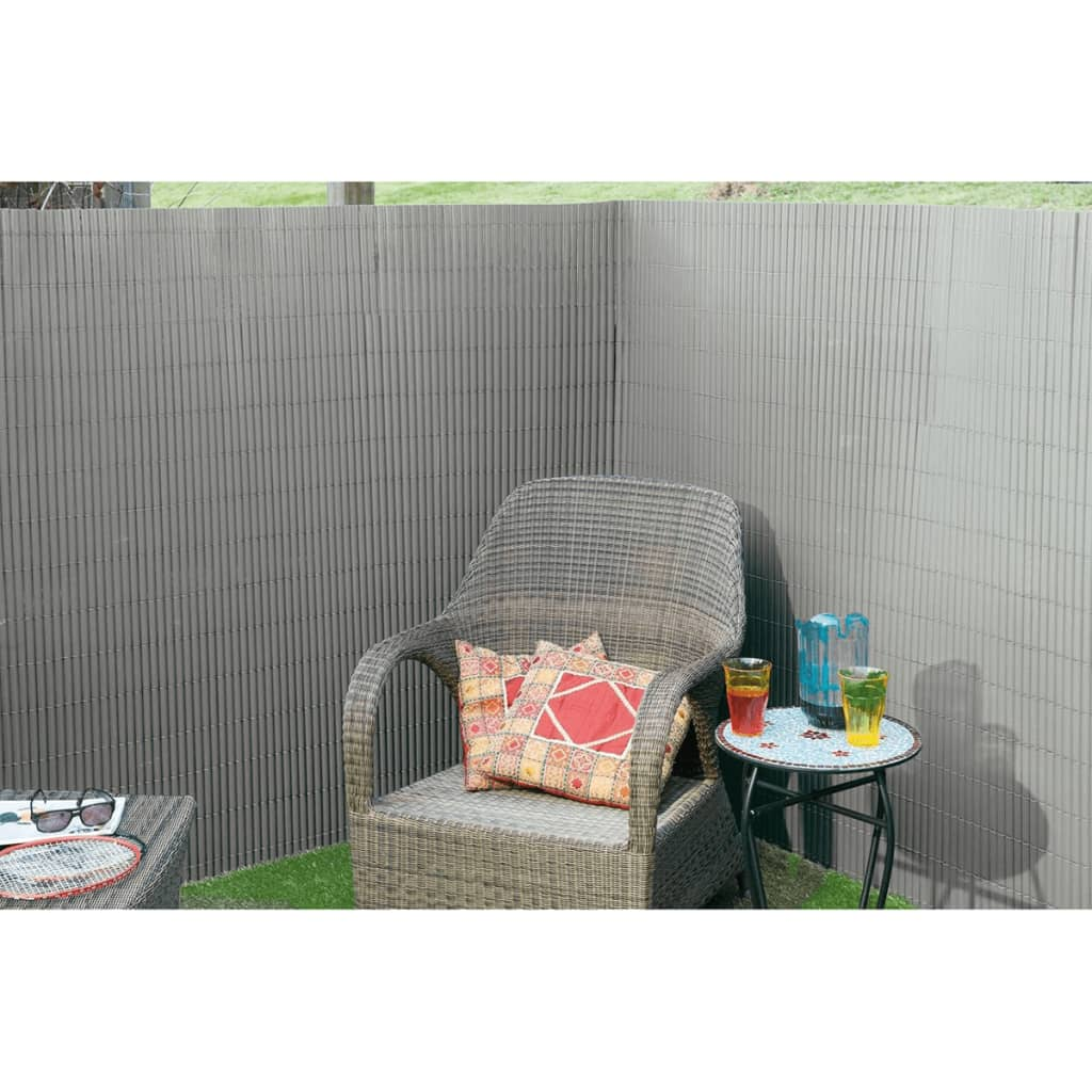 Nature malla de ocultaci n de jard n 1x3 m pvc gris 6050370 - Ocultacion para jardin ...