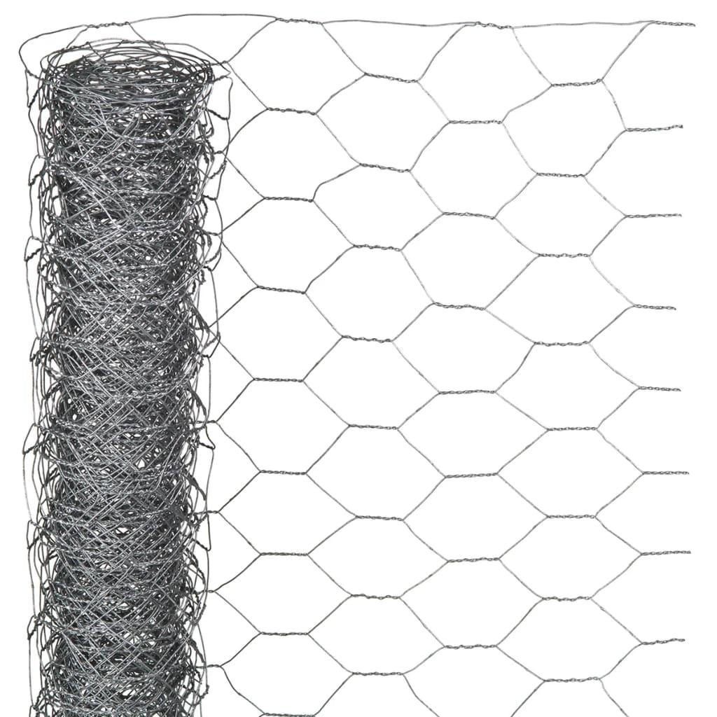 Nature malla de alambre 0 5x5 m acero galvanizado 6050211 - Malla de acero galvanizado ...
