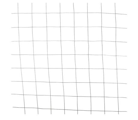 Nature Grillage métallique carré Multicolore Clôture de jardin ...