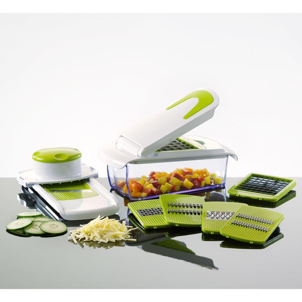 Enrico hét darabos szeletelő és aprító készlet zöld