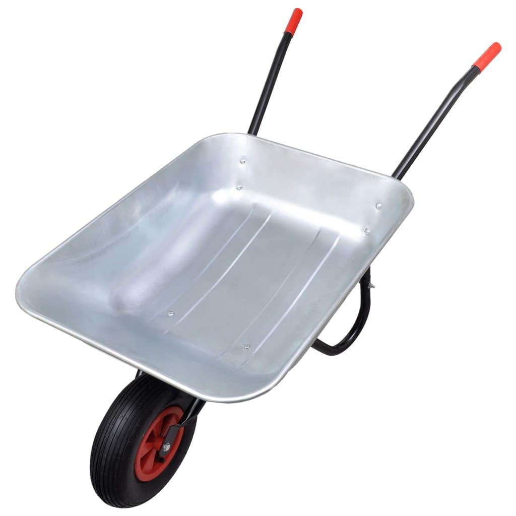 Gardening tool wheelbarrow single wheel 80 l for Garden tools for 4 wheeler