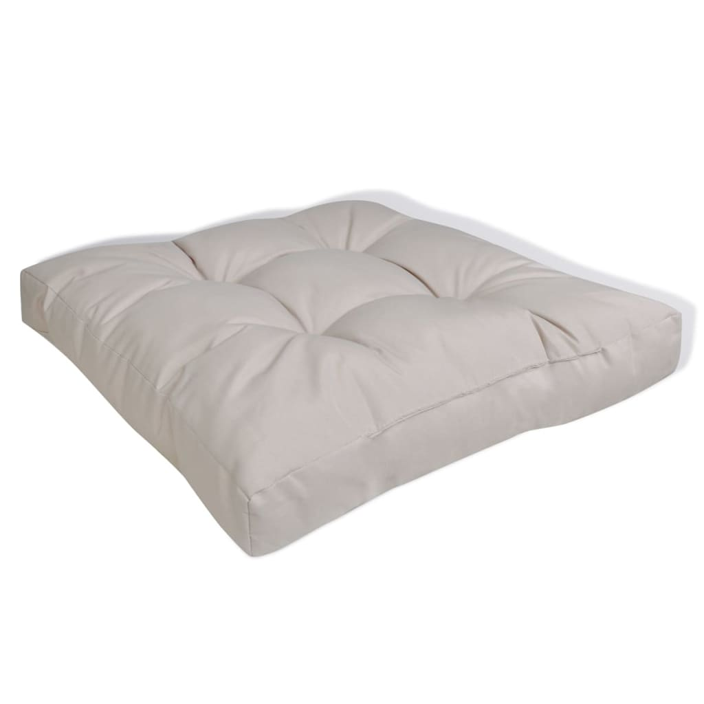 Upholstered Seat Cushion 60 X 60 X 10 Cm Sand White
