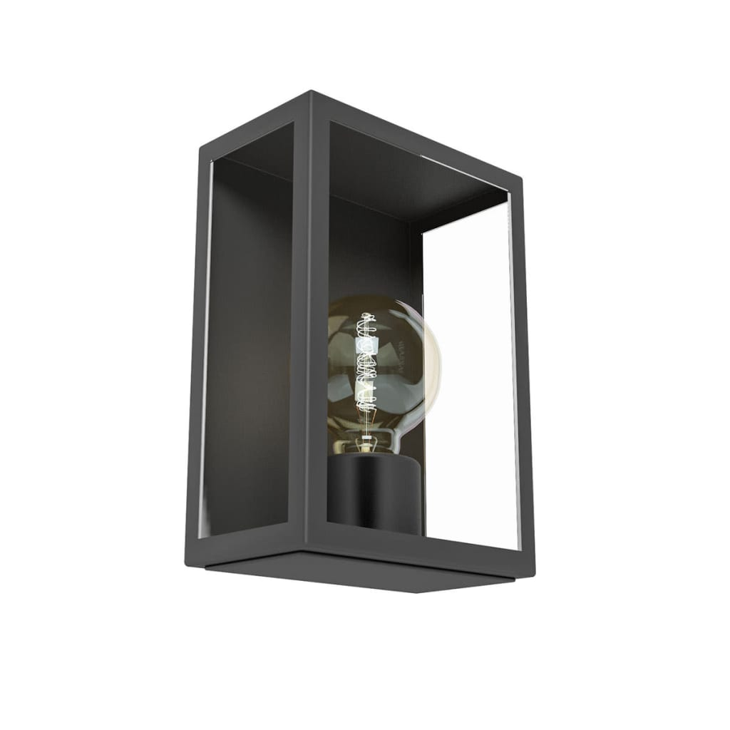eglo muurlamp voor buiten alamonte 1 60 w zwart 94831 online kopen. Black Bedroom Furniture Sets. Home Design Ideas