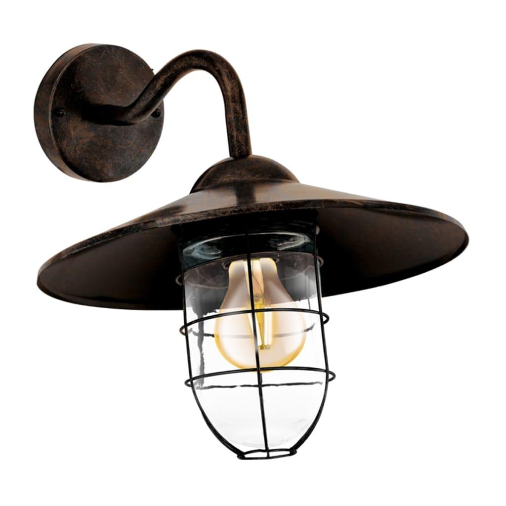 acheter eglo lampe murale d 39 ext rieur melgoa marron fonc. Black Bedroom Furniture Sets. Home Design Ideas