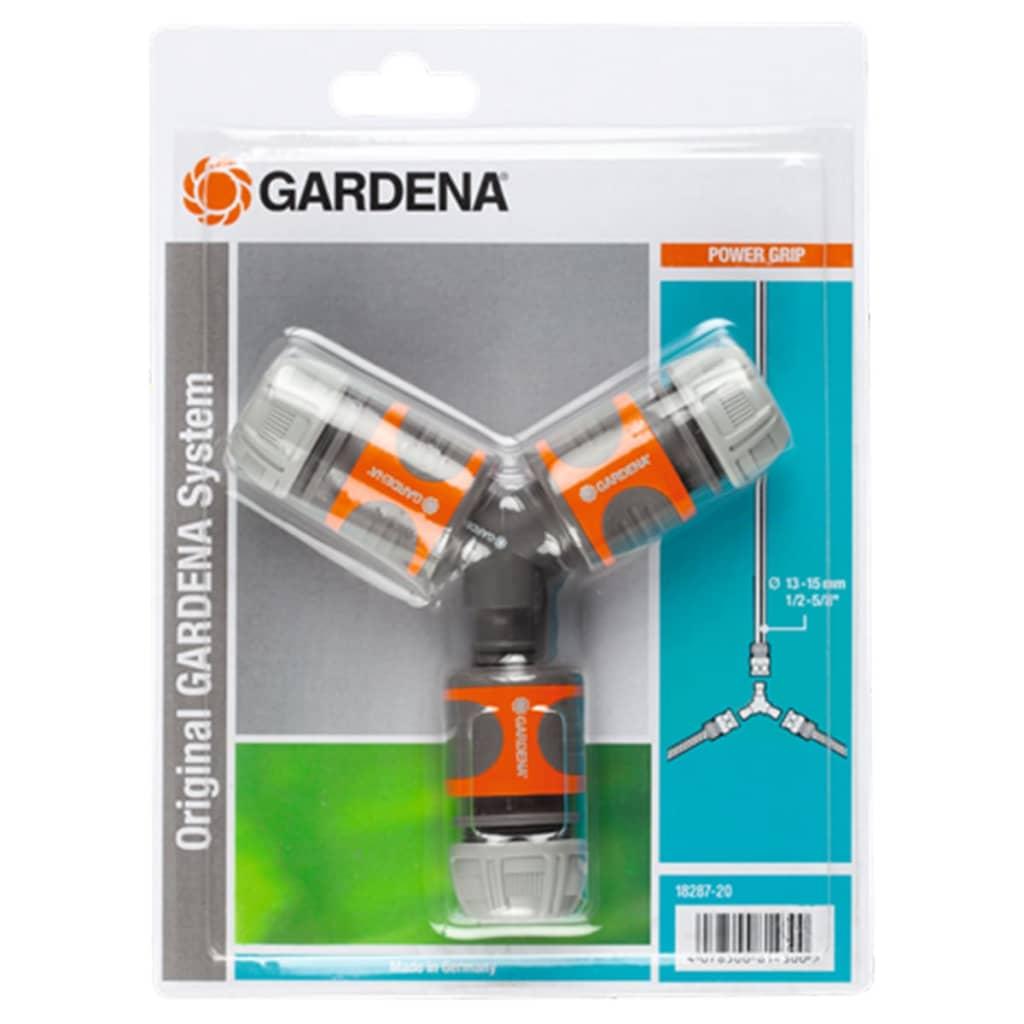Afbeelding van GARDENA Tweezijdige Slangkoppelingset oranje en grijs 18287-20