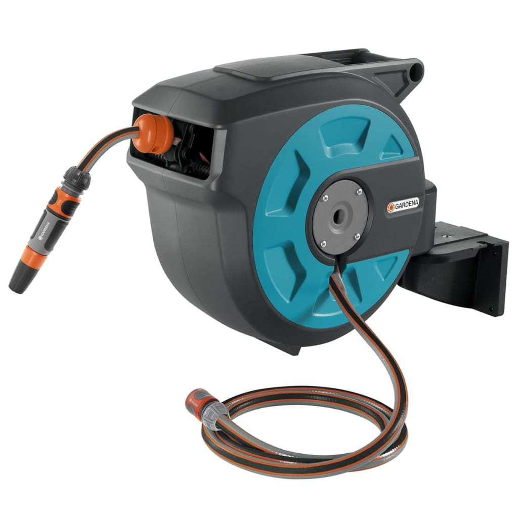 how to set up gardena hose reel