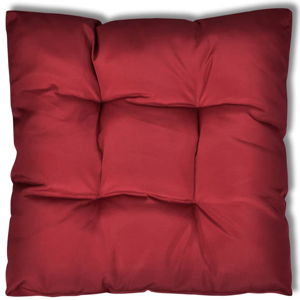 sitzpolster polster sitzkissen 80 x 80 x 10 cm weinrot. Black Bedroom Furniture Sets. Home Design Ideas