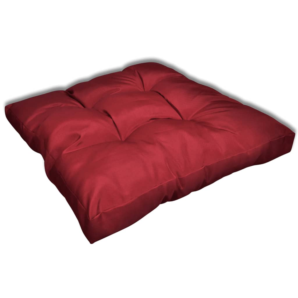acheter coussin de si ge 80 x 80 x 10 cm rouge vineux pas cher. Black Bedroom Furniture Sets. Home Design Ideas