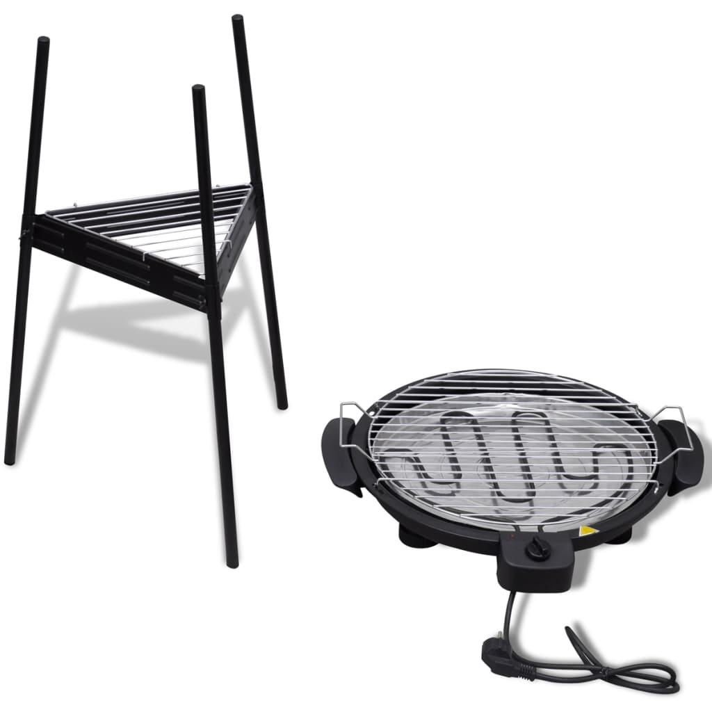 la boutique en ligne barbecue electrique grille ronde pour. Black Bedroom Furniture Sets. Home Design Ideas