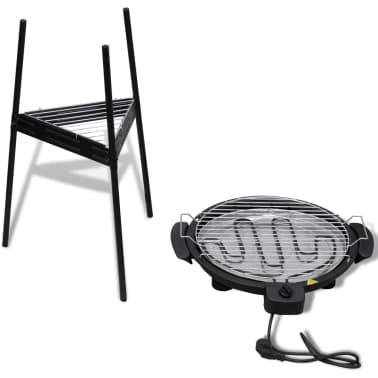 acheter barbecue electrique grille ronde pour jardin pas. Black Bedroom Furniture Sets. Home Design Ideas