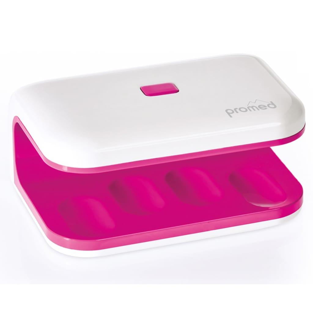 Afbeelding van Promed UV Nageldroger UV-LED 8 8 W mini roze en wit 330035