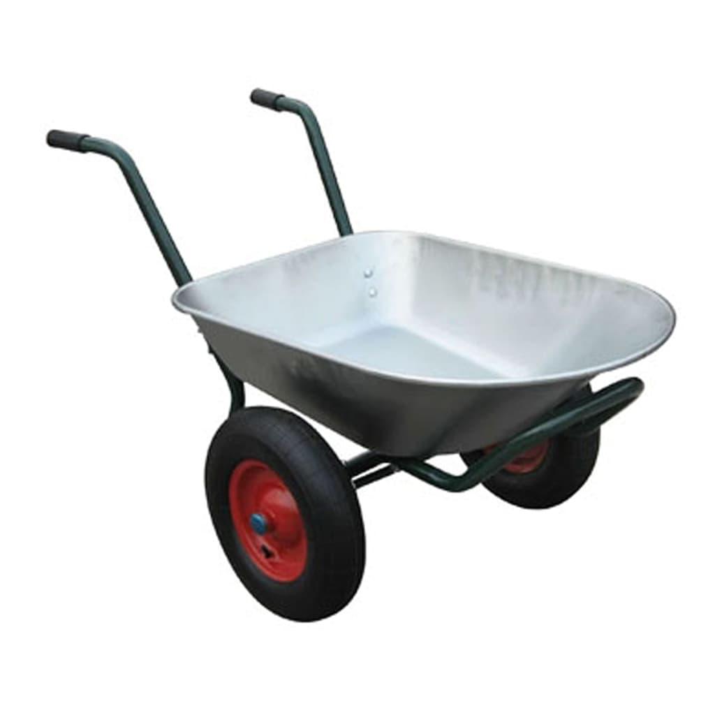 Gardening tool wheelbarrow two wheels 66 l for Garden tools for 4 wheeler