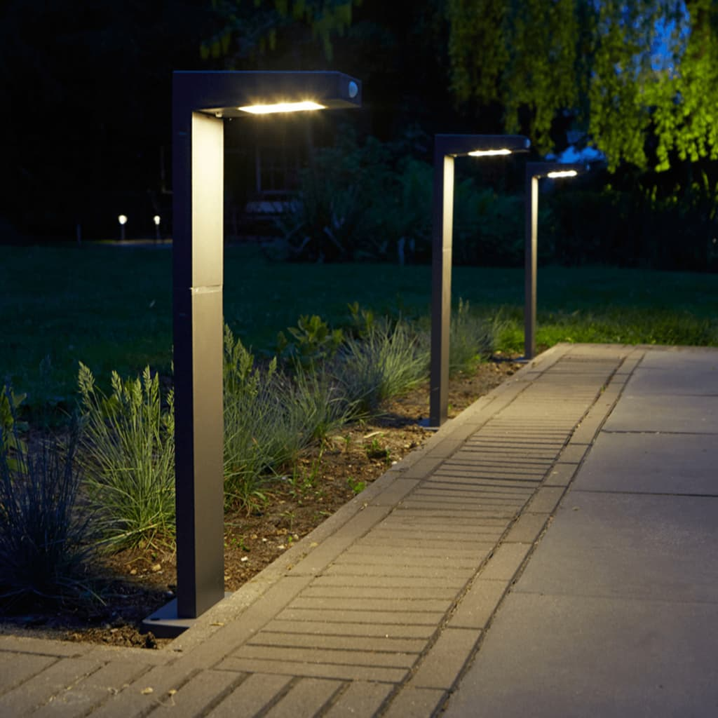Vidaxl Co Uk Luxform Solar Led Bollard Light Alberta