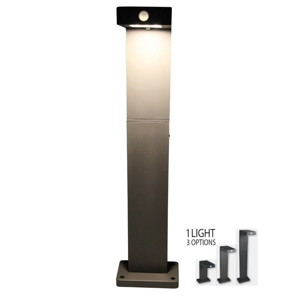 la boutique en ligne luxform borne led lumineuse solaire alberta anthracite. Black Bedroom Furniture Sets. Home Design Ideas