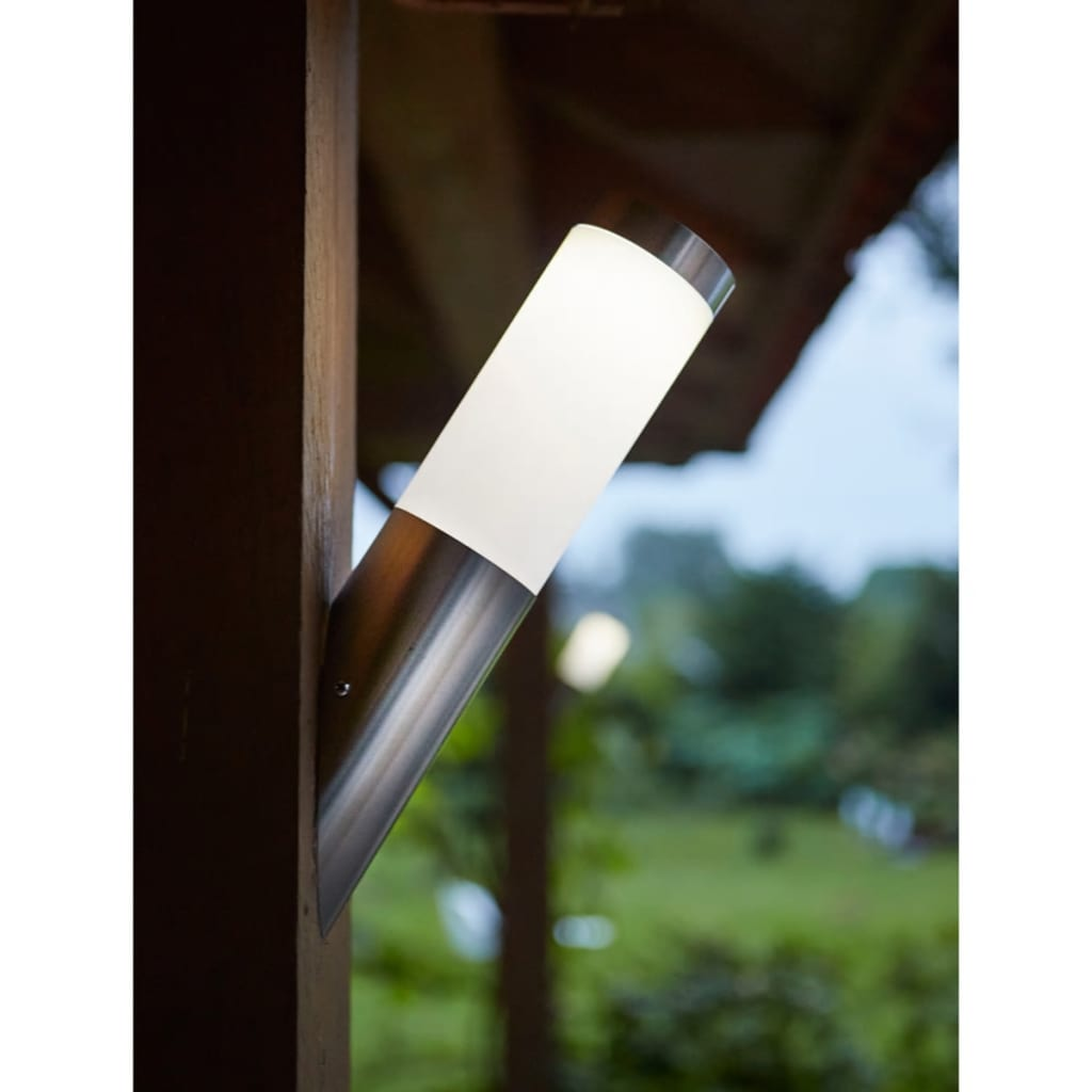 la boutique en ligne luxform lampe murale led solaire idaho argent. Black Bedroom Furniture Sets. Home Design Ideas