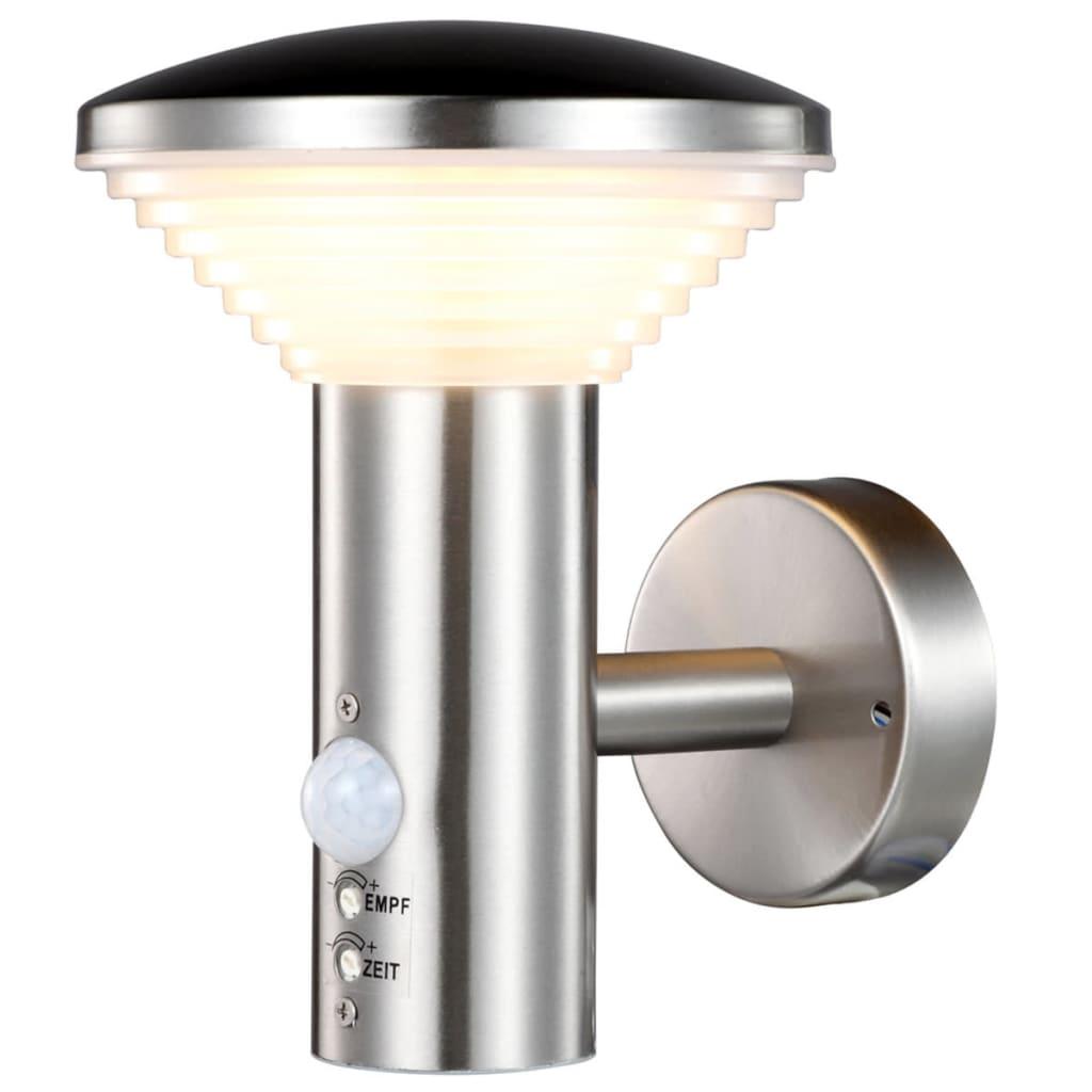 vidaXL Luxform LED-wandlamp met PIR-sensor Trier zilver LUX1701S