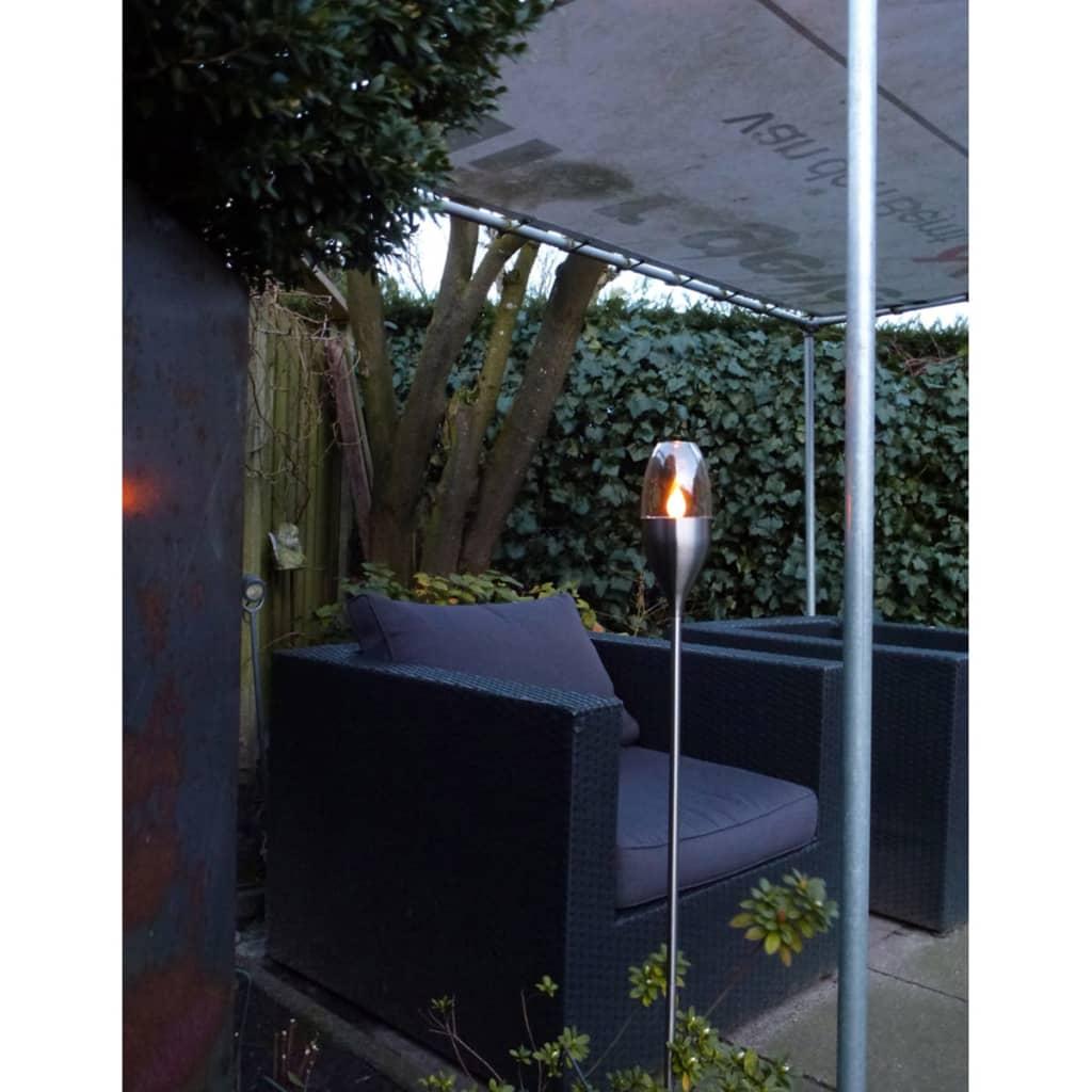 Luxform antorcha solar de jard n 2 unidades acero for Antorchas jardin