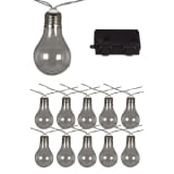 Luxform Guirlande lumineuse sur batterie avec 10 LED Transparent