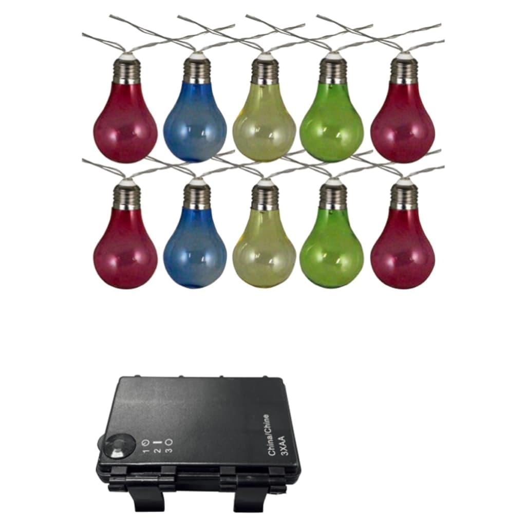 Afbeelding van Luxform Feestverlichting op batterijen met 10 LED's kleurrijk 95111