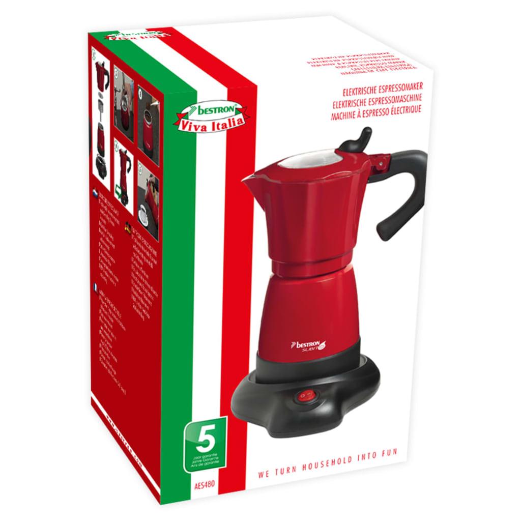 Acheter bestron machine expresso 6 tasses 480 w rouge aes480 pas cher - Solde machine a cafe ...