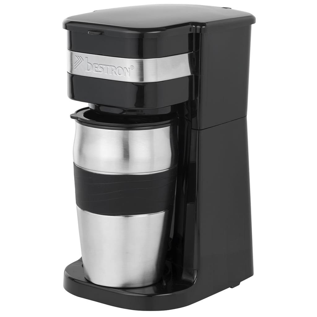 bestron kaffeemaschine f r coffee to go 750 w 420 ml schwarz acm111z g nstig kaufen. Black Bedroom Furniture Sets. Home Design Ideas