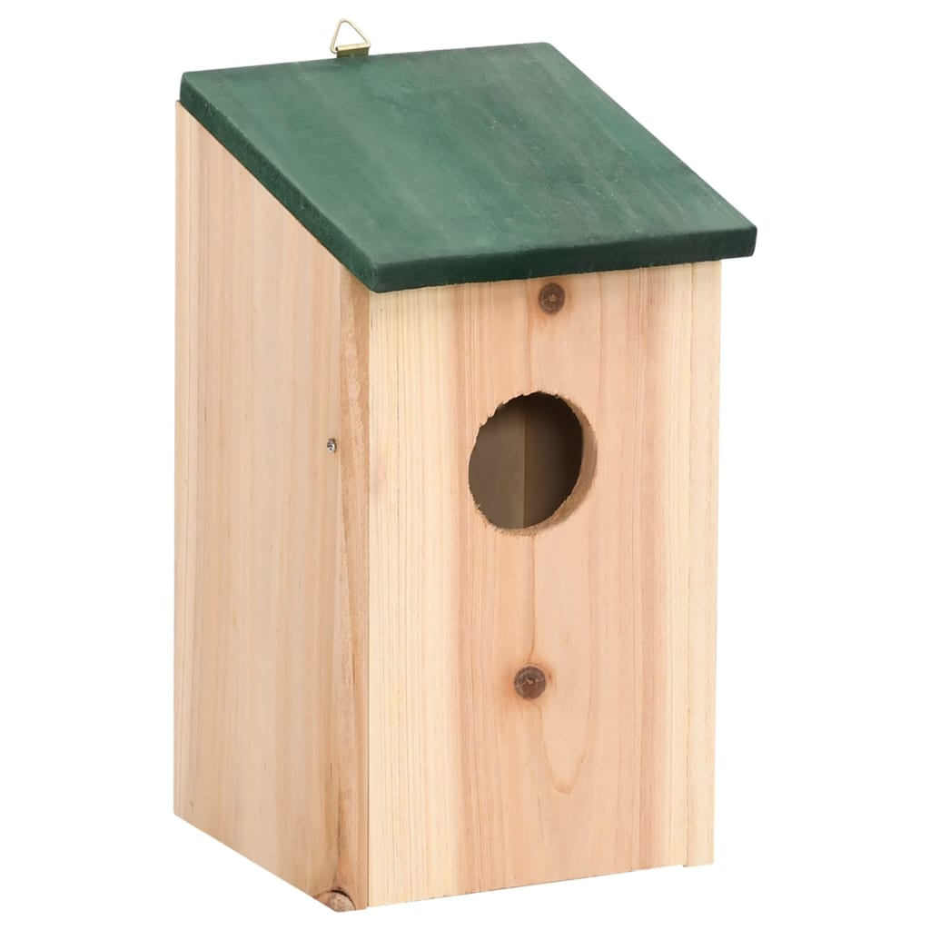 Bird House Nesting Box Wood 4 pcs | vidaXL.com