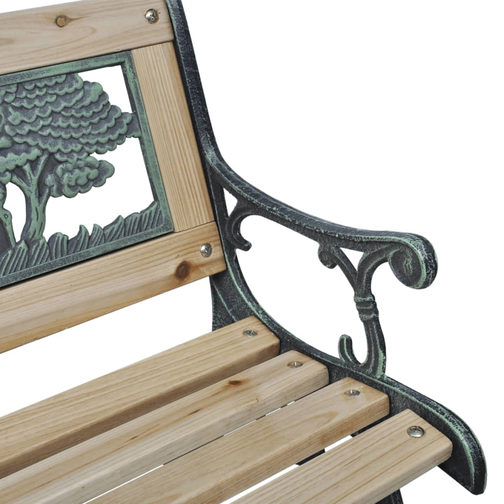 Vidaxl home garden bench for children animal pattern 80 x for Banc jardin fonte
