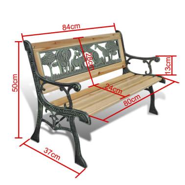 vidaXL Home Garden Bench for Children Animal Pattern 80 x 24 cm[5/5]