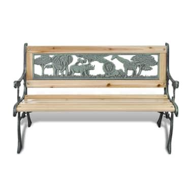 vidaXL Home Garden Bench for Children Animal Pattern 80 x 24 cm[2/5]