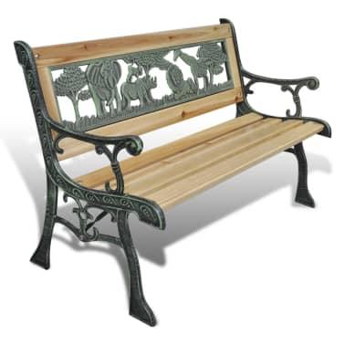 vidaXL Home Garden Bench for Children Animal Pattern 80 x 24 cm[1/5]