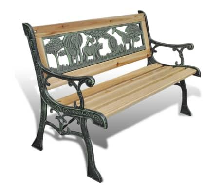 vidaXL Home Garden Bench for Children Animal Pattern 80 x 24 cm
