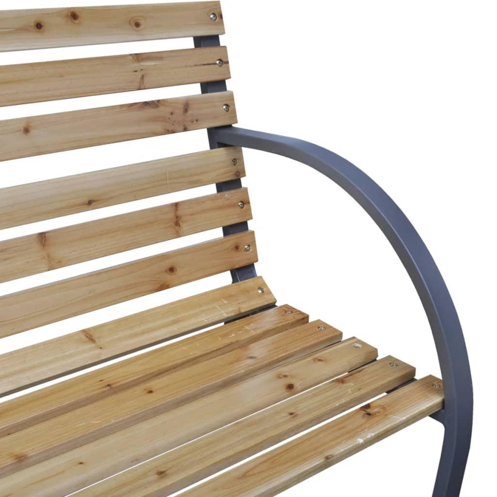 Vidaxl Iron Frame Garden Bench With Wood Slats Vidaxl Co Uk