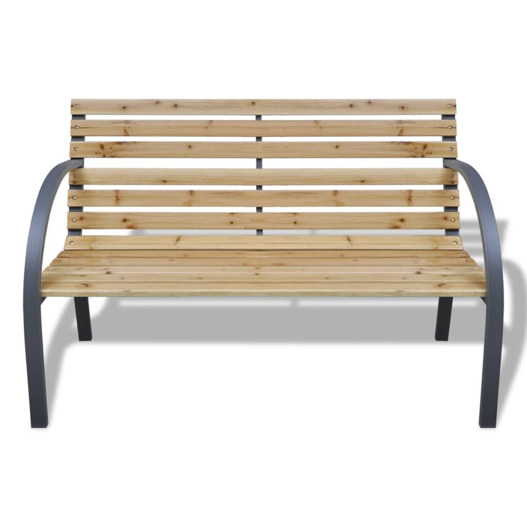 Vidaxl banco para jardin de madera y hierro for Banco de jardin de hierro y madera