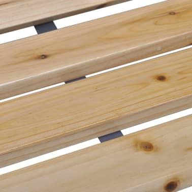 vidaXL Gartenbank Eisenrahmen und Holzleisten[4/5]