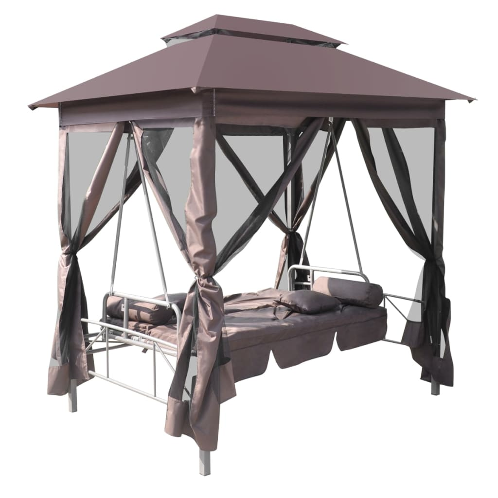 luxury outdoor gazebo swing chair sunbed coffee