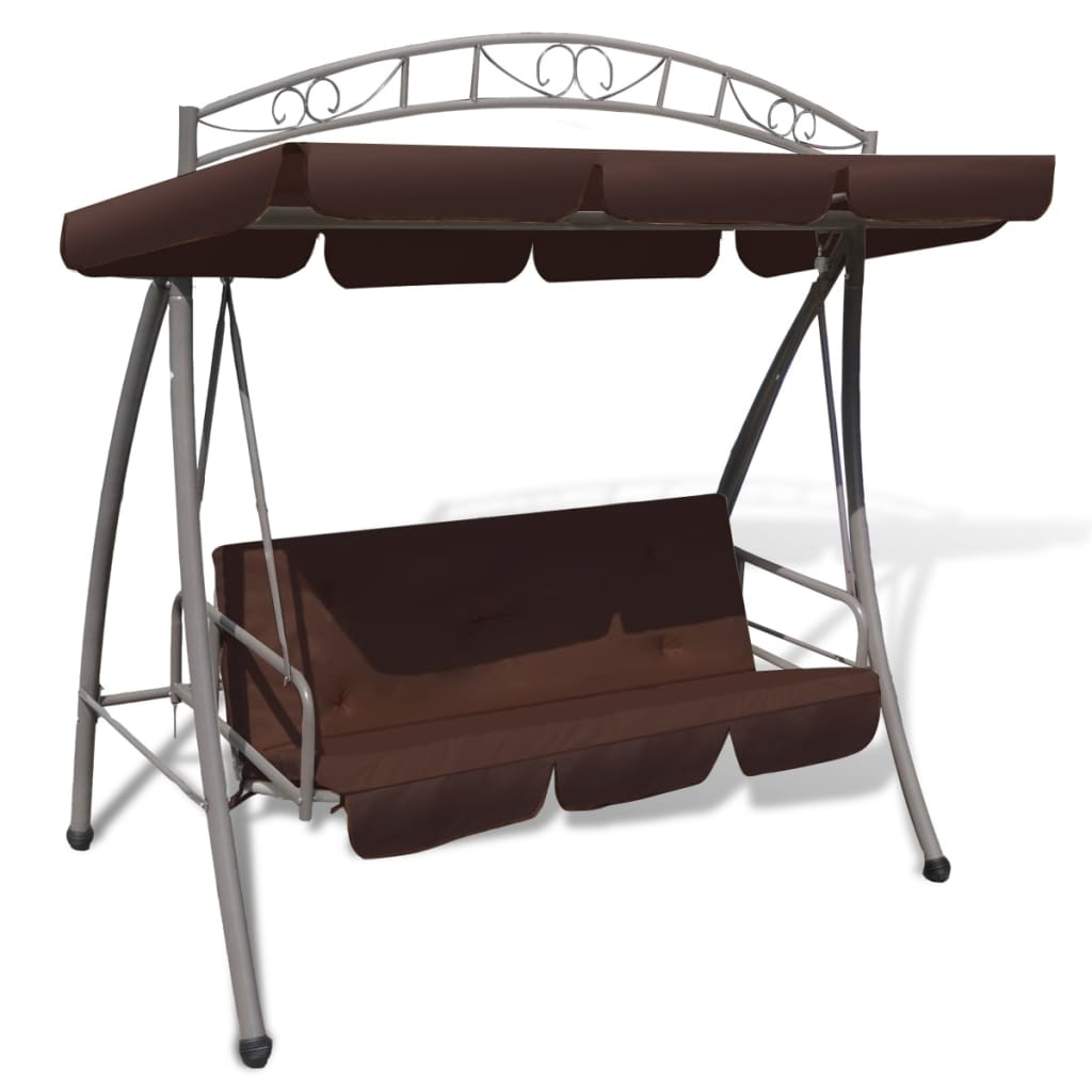 outdoor swing chair bed canopy patterned arch coffee