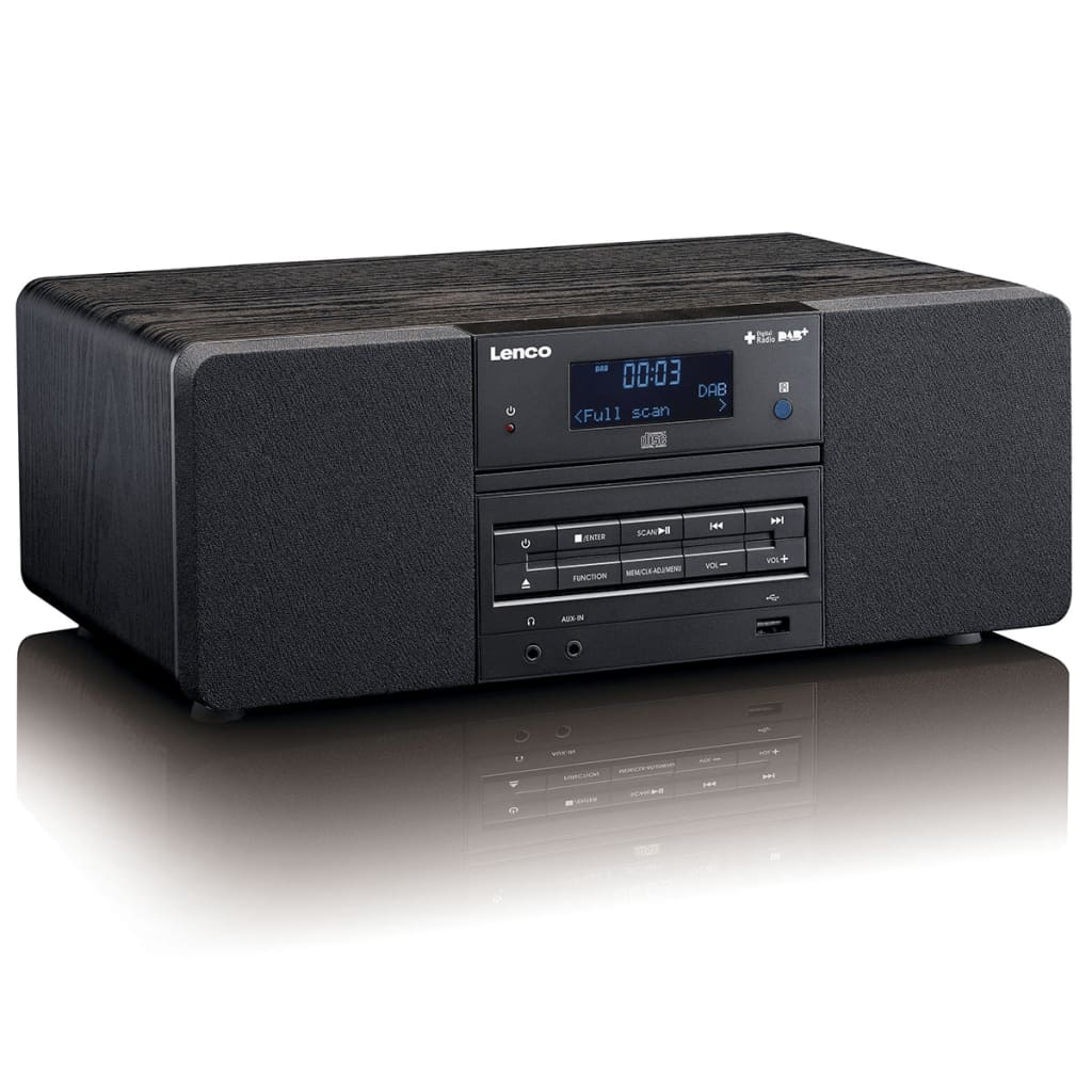 lenco dab fm radio mit cd mp3 player dar 050 schwarz g nstig kaufen. Black Bedroom Furniture Sets. Home Design Ideas