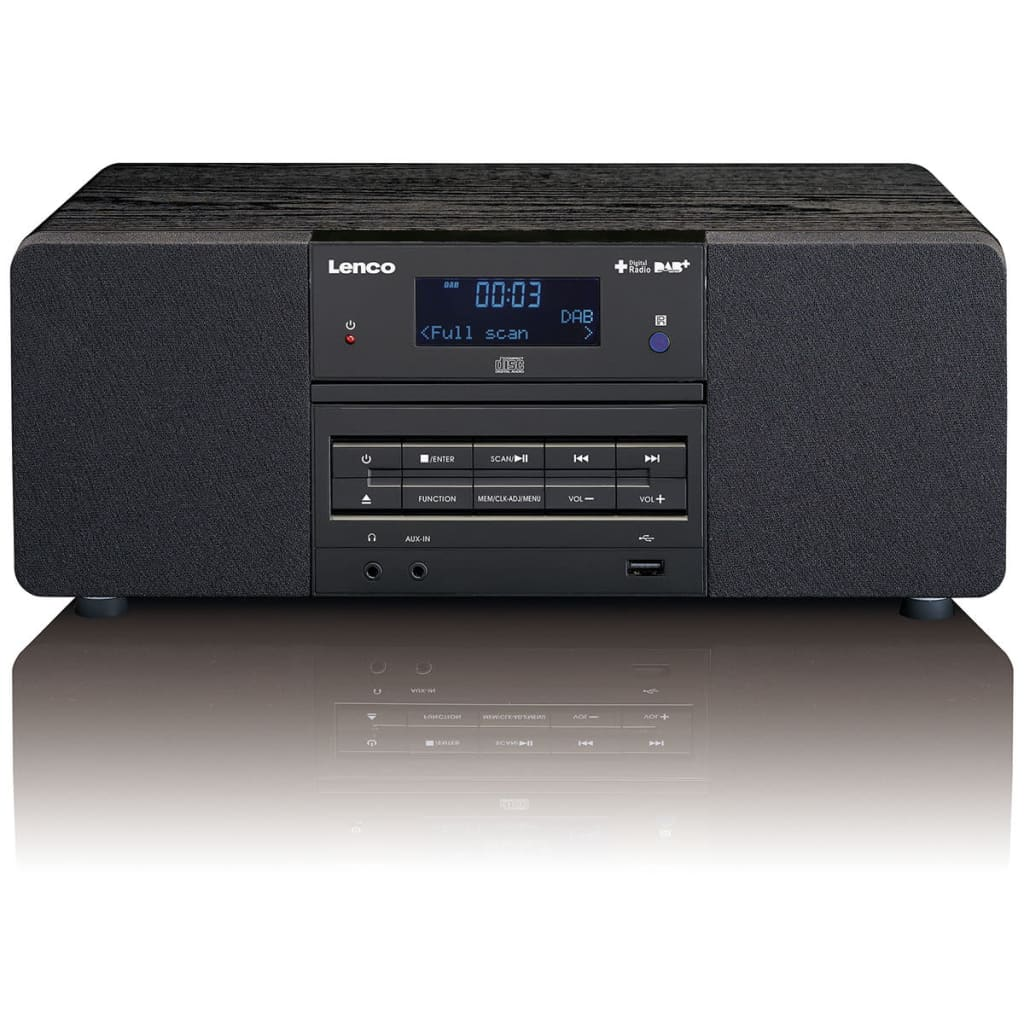 lenco dab fm radio mit cd mp3 player fernbedienung. Black Bedroom Furniture Sets. Home Design Ideas