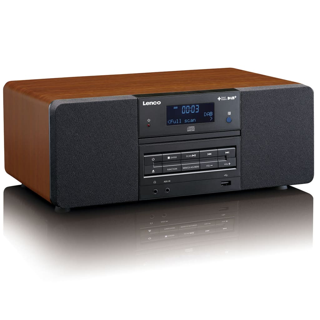 lenco dab fm radio mit cd mp3 player dar 050 holz g nstig. Black Bedroom Furniture Sets. Home Design Ideas