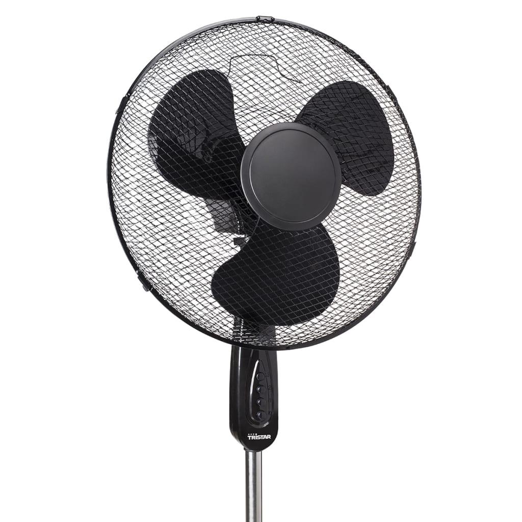 acheter tristar ventilateur sur pied ve 5949 50 w 40 cm noir pas cher. Black Bedroom Furniture Sets. Home Design Ideas