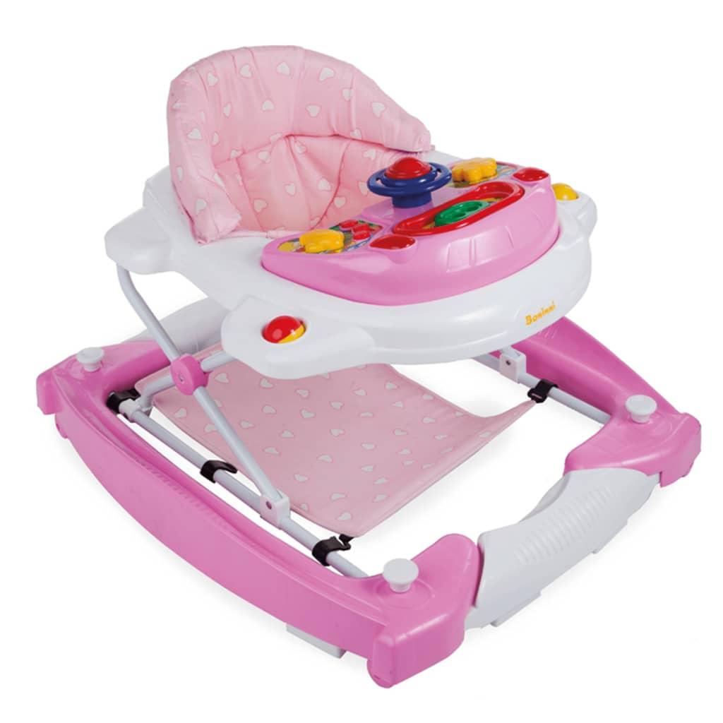 Afbeelding van Baninni Loopstoel 2-in-1 Classic roze BNBW002-LPK