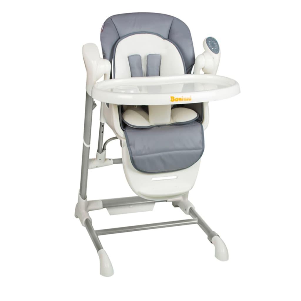 Acheter baninni chaise haute ugo gris bndt001 gy pas cher for Chaise haute solde