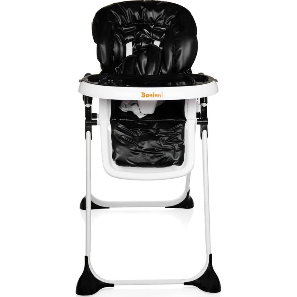 la boutique en ligne baninni chaise haute pliable olivo noir bndt007 bk. Black Bedroom Furniture Sets. Home Design Ideas